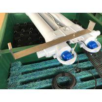 Detailansicht (Verschraubung) Abb. mit UVC und Filter inkl. Filtermaterial - nicht im Preis inbegriffen