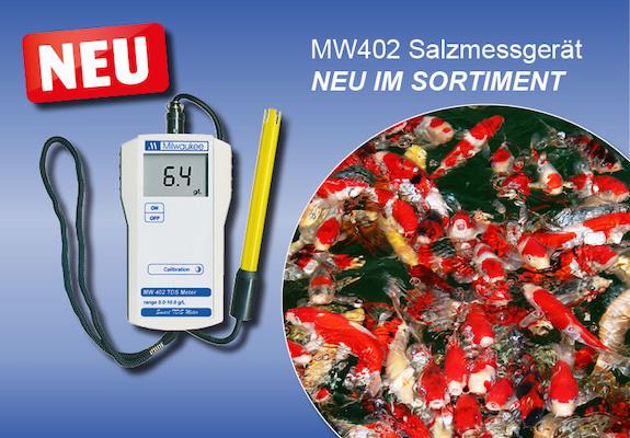 Salzmessgerät für den Teich